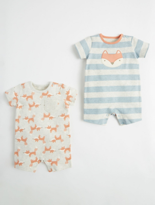 Mini Stitch Fox Rompers