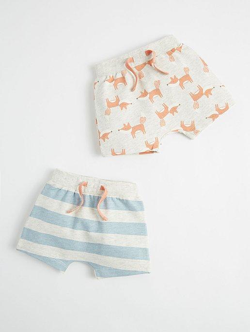 Mini Stitch Fox Shorts 2 Pack