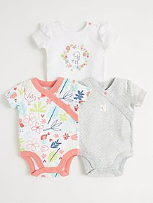 Other Newborn-5t Girls Clothes 0-3 Month Patterned Slogan Long Sleeve Bodysuits