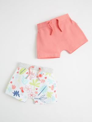 Mac & Moon Pink Floral Shorts 2 Pack