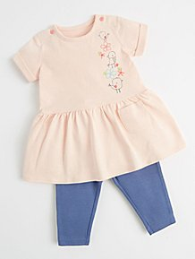 0d0369b90c4bb Mac & Moon Pink Bird T-Shirt and Leggings Outfit