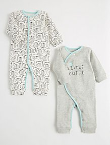 Girls' Clothing (newborn-5t) 3 X Sleepsuits Baby Girl Upto 1 Month