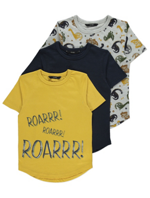Dinosaur T-Shirts 3 Pack
