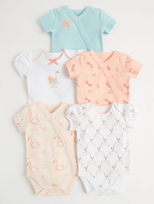 Sunny & Sal Bear Swan and Butterfly Bodysuits 5 Pack