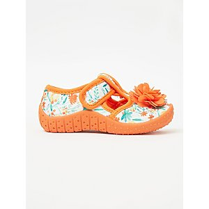 First Walkers Orange Floral Activity Shoes