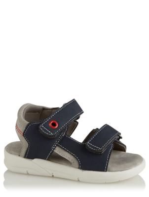 First Walkers Navy 2 Strap Sandals