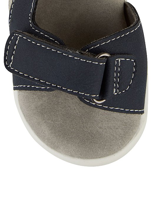aee6f94e715a First Walkers Navy 2 Strap Sandals | Kids | George