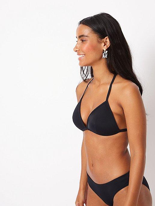 157ac9fc23 Black Triangle Bikini Top