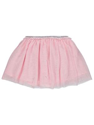 Pink Glitter Tutu Skirt
