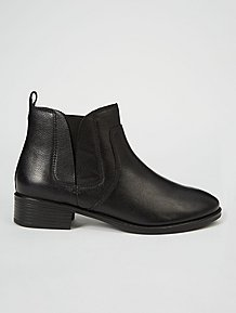 72d329631d850 Black Leather Elasticated Panel Chelsea Boots