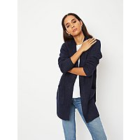 Navy Longline Open Front Cardigan by Asda