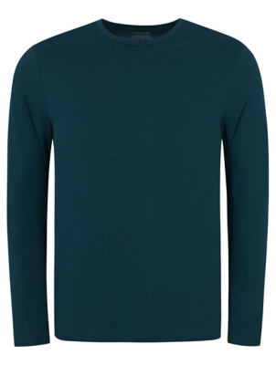Teal Crew Neck Long Sleeve Top