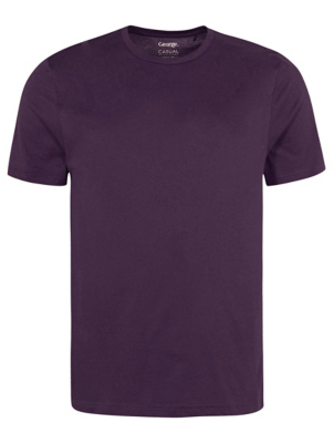 Plum Crew Neck T-Shirt