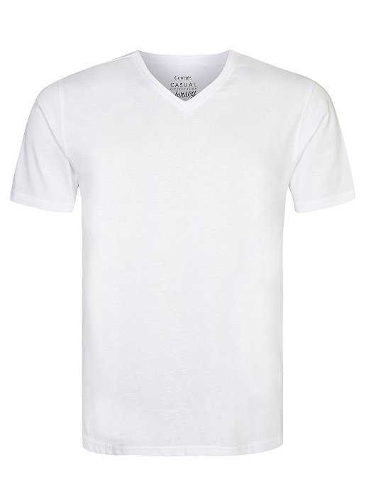 cheap for discount famous brand buy White V-Neck T-Shirt