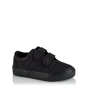 Boys Black 2 Strap Trainers