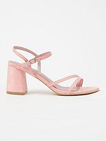 78698ea5bacb Pink Suede Effect Block Heel Sandals