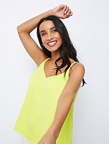 8a001d348b51 Neon Lime Double Layer Camisole Top