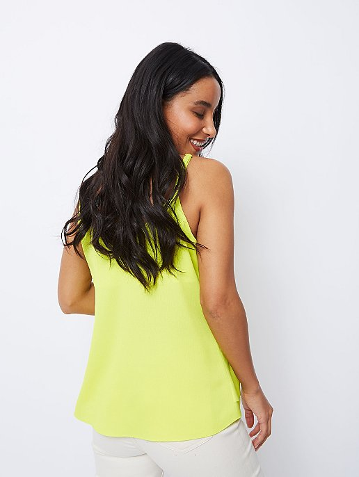 de8aa705db8 Neon Lime Double Layer Camisole Top | Women | George
