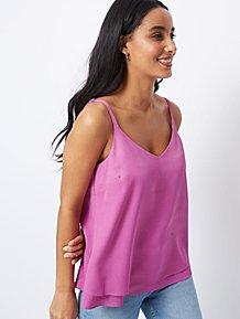 7ac739616f5 Dark Purple Strappy Double Layer Camisole Top