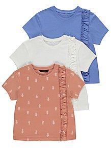 4a6114a1e5fd Tops & T-Shirts | Girls 1-6 Years | Kids | George at ASDA