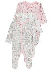 aea3bfe9db Baby Girls Sleepsuits & Pyjamas | George at ASDA