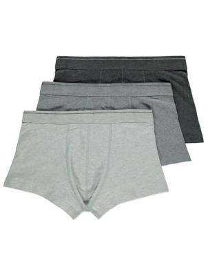 Grey Hipster Trunks 3 Pack