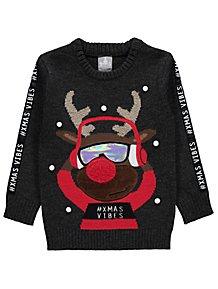 Hedgehog Christmas Jumper.Boys Jumpers Cardigans Boys Knitwear George At Asda