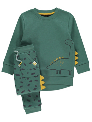Green Dinosaur Sweatshirt and Joggers Outfit