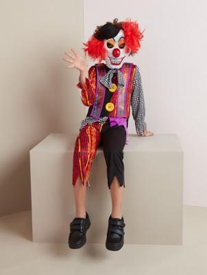 Halloween Holographic Clown Fancy Dress Costume