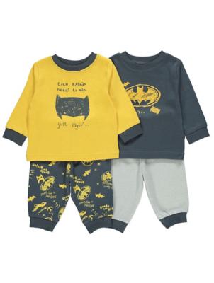 DC Comics Batman Long Sleeve Pyjamas 2 Pack