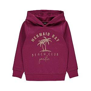 Purple Fleece Lined Tropical Slogan Hoodie