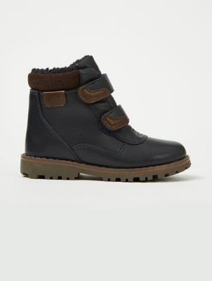 Navy Blue 2 Strap Rugged Boots