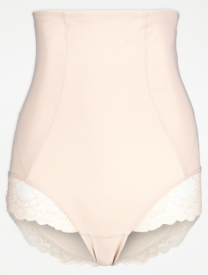 Beige High Waisted Shaping Briefs