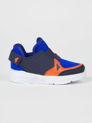 First Walkers Blue Mesh Slip On Trainers
