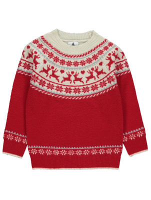 Red Fairisle Mini Me Christmas Jumper