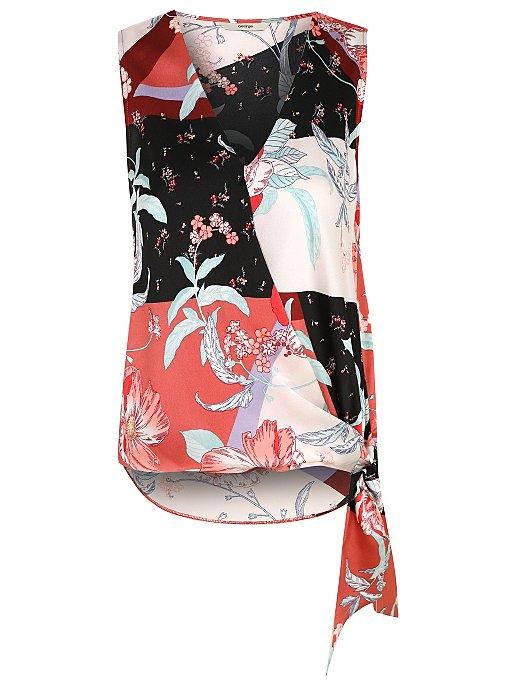 efdcad9aa8e3c2 Scarf Print Wrap Front Sleeveless Blouse | Women | George