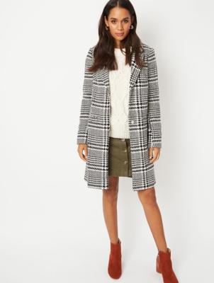 Black Checked Formal Coat