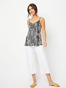 403166e0 Black Animal Print Swing Jersey Camisole Top