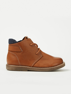 First Walkers Tan Brown Lace Up Desert Boots