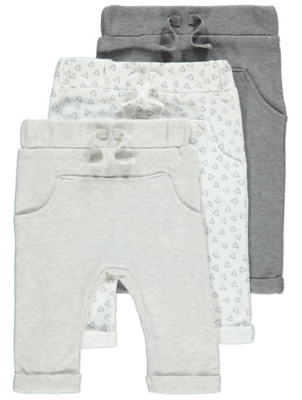 Grey Pocket Front Joggers 3 Pack
