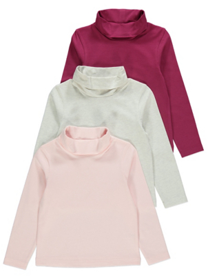 Pink High Neck Tops 3 Pack