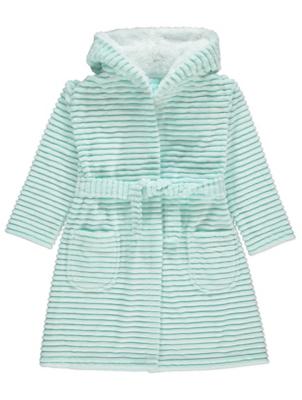 Blue Rippled Fleece Dressing Gown