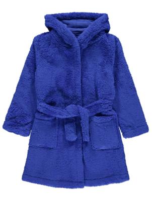 Blue Fleece Dressing Gown