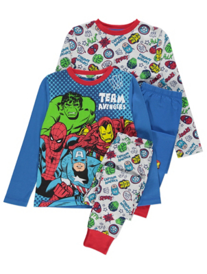 Marvel Avengers Long Sleeve Pyjamas 2 Pack