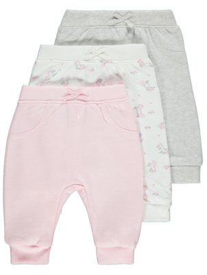 Pink Unicorn Joggers 3 Pack