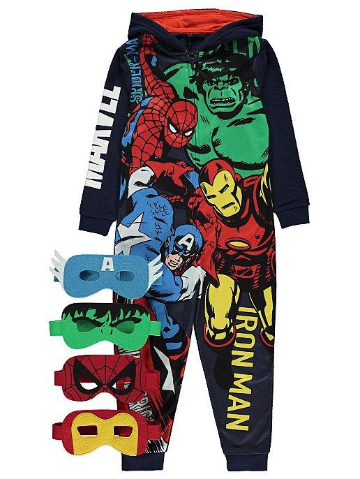 Boys Superhero Pyjama Set Comic Characters Marvel DC Heroes 4-5 Up To 11-12