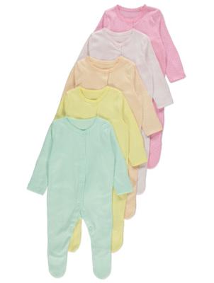 Polka Dot Sleepsuits 5 Pack