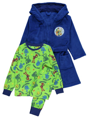 Disney Toy Story Pyjamas and Dressing Gown Set