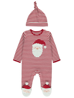 Red Striped Santa All in One
