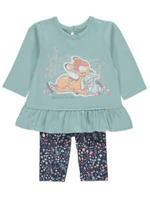 Disney Bambi Blue Top and Leggings Outfit
